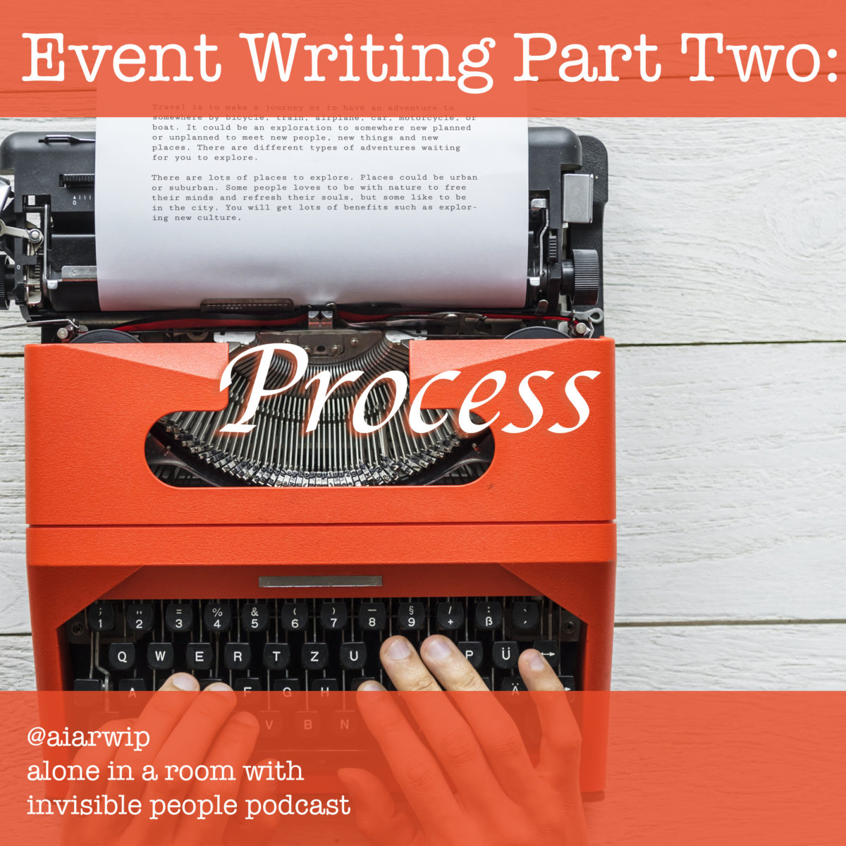 Episode 49: Event Writing Part Two: Process